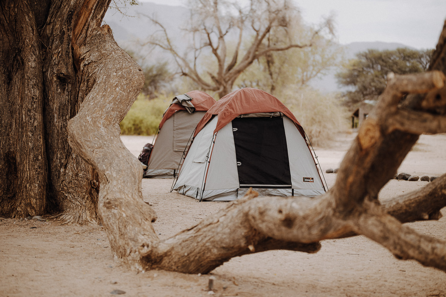 two tents in the desert in namibia