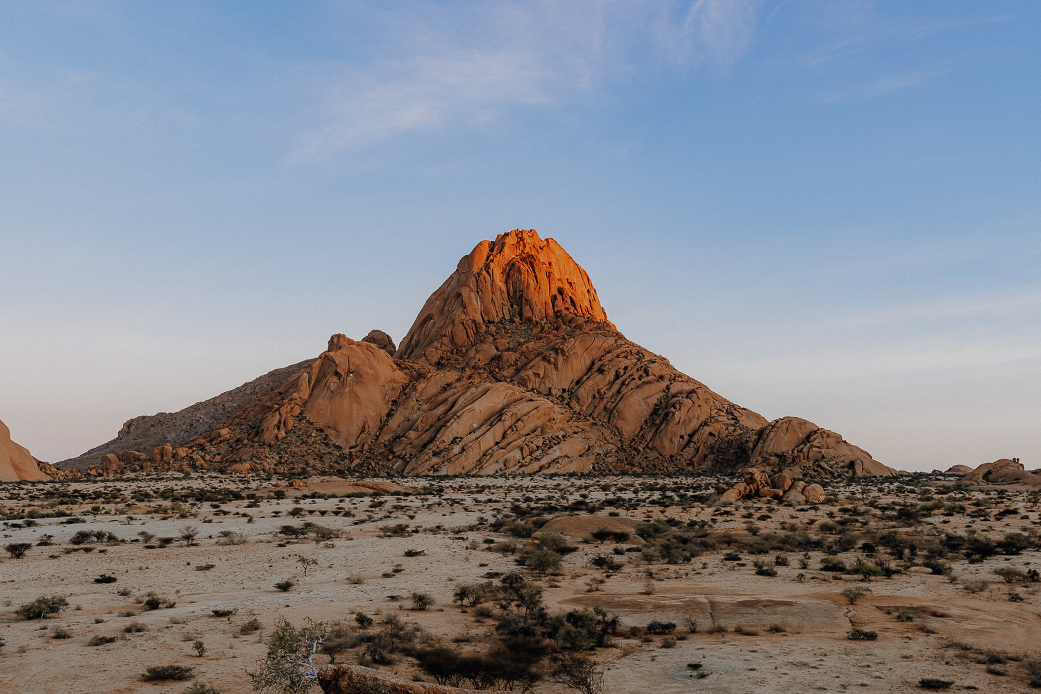 view to the Spitzkoppe in namibia